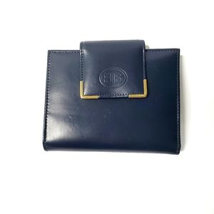 Women Wallet Small Square Blue